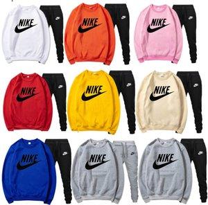 Fall Winter plus size 3XL Men brand Long sleeve Fleece tracksuit 2 piece set Hoodies Pants casual sportswear letter outfits sweatsuits 3622