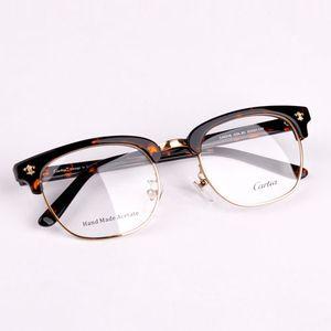 Lüks-blackgold erkek yarı çerçevesiz gözlük çerçeveleri Carfia 5316 metal yarım çerçeve şeffaf lens gözlük optik ücretsiz kargo