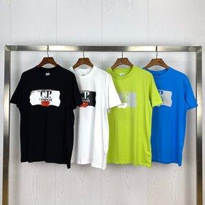 Мужская дизайнерская футболка C. P Company 20ss Letter с коротким рукавом круглый вырез мода сплошная футболка с 4 цветами Азиатский размер M-2XL