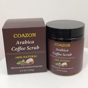 Café Crema exfoliante suave de la piel Cuidado de limpieza profunda que blanquea la descalcificación Exfoliante Limpiador envío E0502