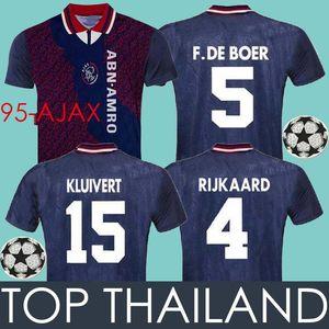 1994 1995 Ajax Soccer Jersey Voetbal Shirts 94 95 Ajax RIJKAARD KLUIVERT DE BOER SEEDORF DAVIDS SEEDORF Vintage Classic Football