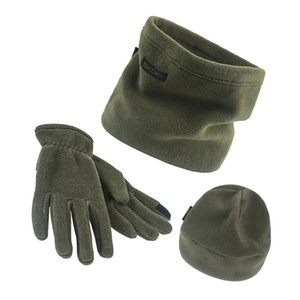 *3pcs set Scarf Hat Gloves Set Three-Piece Winter Warm Set Fleece Slouchy Beanie Hats Scarves Warm Clothing Kit for Men Women*