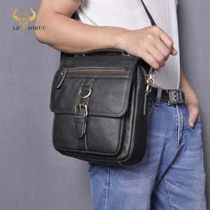 """Quality Leather Male Fashion Casual Tote Messenger bag Design Satchel Crossbody One Shoulder bag 9.8"""" Tablet Case For Men 039"""