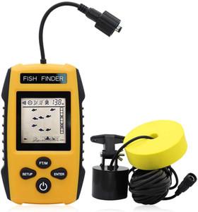 Portable Fish Finder, Contour Lettura Fishfinder portatile di profondità di lettura 3 piedi a 328ft con Sonar Sensor trasduttore Display LCD 5 Modalità
