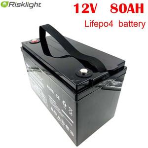 Rechargeable Lifepo4 li-ion 12V Type 80Ah Lithium Ion Marine Yacht Bateau batterie avec indicateur LED