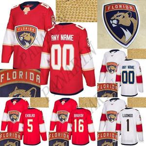 Florida Panthers Jersey 72 Sergei Bobrovsky 1 Luongo 16 Aleksander Barkov 5 Ekblad Kırmızı Beyaz Herhangi bir Numarayı Özelleştir Herhangi Bir Adı Hokey Formaları