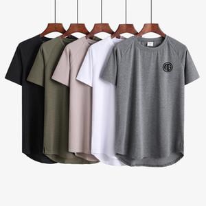 Estate 2019 Abbigliamento palestre di marca estendere hip-hop T-shirt da strada Camicia fitness da uomo bodybuilding t-shirt da uomo t-shirt da uomo Slim fit Top estivo