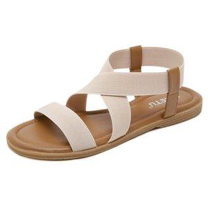 UMMEWALO Sandals Women Designer Flat Strappy Sandals Gladiator Sandal Summer Shoes Zapatos Mujer