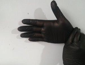 Guantes desechables de látex 100pcs Negro Blanco grueso antideslizante guantes de látex de caucho Laboratorio protector caliente del guante de la limpieza del hogar