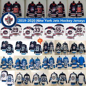 2018 Jets de Winnipeg Les nouveaux hommes 29 Patrik Lainé 26 Blake Wheeler 33 DustinByfuglien 55 Mark Scheifele 25 Stastny 37 Hellebuyck Hockey Chandails