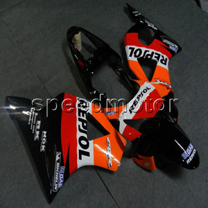 Gifts+Screws repsol orange black motorcycle article for HONDA 2002 2003 CBR954RR 02 03 ABS motorcycle Fairing hull