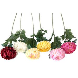 اصطناعية المجفف FlowersFake واحدة الجذعية الأناناس الاقحوان محاكاة جولة الأقحوان لحضور حفل زفاف الرئيسية معرض EEA1205-61