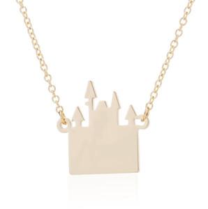 Bijoux 2019 Moda Fairy Tale collar encantador castillo de cadena larga de los collares de las mujeres regalos para niños Declaración de joyería
