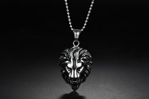 2020 Z 201.601 yeni sıcak satış Aslan Kral titanyum çelik kolye titanyum çelik Lion Baş kolye kolye erkek moda titanyum çelik kolye