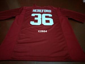 Männer # 36 Mac Hereford Alabama Crimson Tide rot schwarz weiß College Jersey oder benutzerdefinierte einen beliebigen Namen oder Nummer Trikot