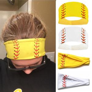 2020 Fashion Softball Sport Sweat sfera delle fasce del Ragazze di yoga fitness Donne Accessori per capelli Bandane Stampe Ampia esecuzione baseball Hairband