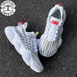 2020 zapatos de diseño, hombres, mujeres treeperi Durian grueso V1 formadores ocasionales gris cebra hombre de la moda del deporte zapatillas de deporte de Estados Unidos 5,5-10