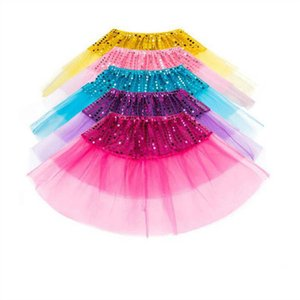 Bambino Tutu tulle Gonne paillettes Danza Balletto Pettiskirt fase gonne principessa partito Minigonna Dancewear Costume Dressup Fancy Gonne D7156