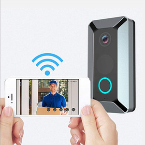 câmera V6 HD WIFI Doorbell Smart Camera IP Vídeo Intercom 720P vídeo porteiro campainha da porta para a câmara Alarm Apartments IR Wireless Security