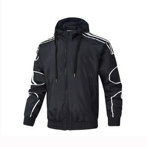 Herren-Design-Jacken Windjacke Aktiv Zipper Hoodies Marke beiläufige Art und Weise L-4XL Schwarz Weiß Rot Großhandel Mäntel Oberbekleidung AS52039