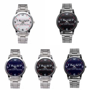 Trump Wrist Watches 5 Styles Trump 2020 Strap Watch Retro Letter Printed Men Boys Quartz Watches OOA7553-14
