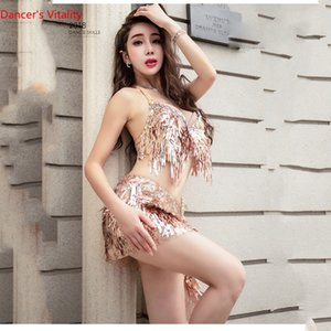 New 2018 High Quality Belly Dance Costume Dresses Sexy Bra+Skirt Stage Performance Suits Outfits Clothes Custom Size