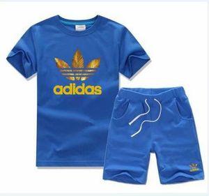 2019 NEW Fashion Brand Kids Sets Children T-shirt 및 Shorts Pants Kids 운동복 어린이 Sport 한 벌 2 Pcs jacket coat Short Sleeve shi232