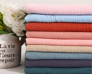 cotton double - layer fabric gauze texture crepe cloth for dress
