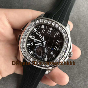 New 5164 Watches Pointer Calendar Swiss 324 SC FUS Automatic Sapphire Crystal Day and night Display Dial Steel Case Diamond Bezel Mens Watch