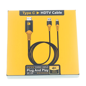 Tip-C USB-C hdmi HDTV Samsung Galaxy Note8 için Şarj Kablosu Adaptörü S9 S8 Artı