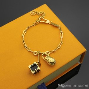 gold bracelet women designer luxury Dinosaur Eggs box lock key bracelets bangle party jewelry