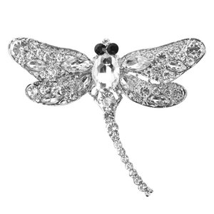 New arrival Plating alloy cute creative dragonfly brooch wholesale personalized custom women rhinestone brooch vintage brooches