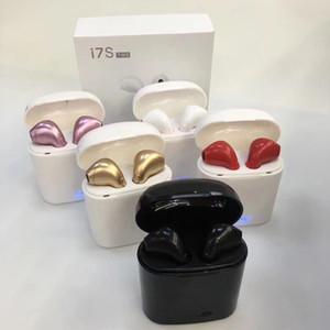 I7 i7 TWS Twins Bluetooth Earbuds Mini sem fio Fones de ouvido Fone de ouvido com microfone estéreo V4.2 de ouvido para telefones celulares com pacote de varejo