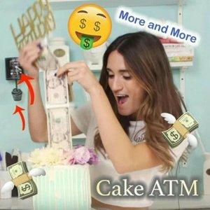 الإبداعية كعكة ATM صنع مفاجأة عيد ميلاد الدعائم صندوق النقد لعبة صعب هدايا UK
