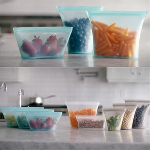 Silicone Food Storage Containers Set Bacia fresca Cup sacola reutilizável Stand Up Zips Cale Bag Fruit Vegetable Cup com Seal Organizer