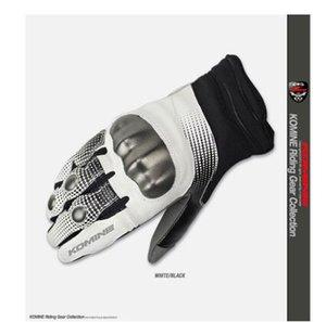 Japón GK-186 de la motocicleta guantes locomotores conducir un todoterreno anti-caen guantes respirables guantes protectores de pantalla corta tacto suave