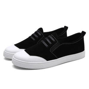 2018 Nuevos Zapatos ocasionales del hombre adulto de los holgazanes de deslizamiento sobre Easy Wear Marca las zapatillas de deporte de los hombres Sapatos Calle Calzado Masculino Ocio de primavera y verano