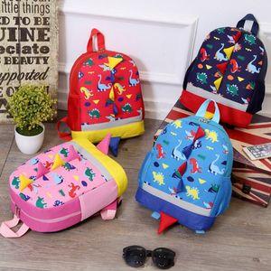 Дети рюкзаки динозавр печатных Shoolbag новорожденных девочек школа рюкзак малышей мальчики плечи сумки девушки дорожная сумка последние 4 конструкции YW2752