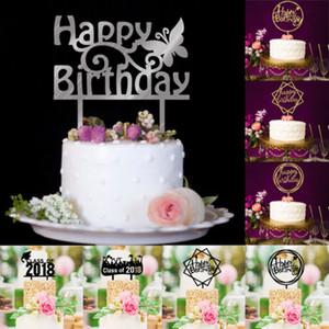 1PCS de la torta de cumpleaños partido de la vela feliz cumpleaños artículos de moda Decoraciones Cubiertas decorativas