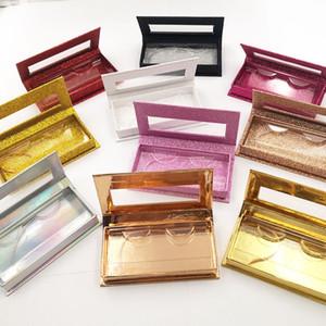 الجملة رمش مربع التعبئة والتغليف مستطيل مربع رمش 3D مربع المغناطيس الراقية المنك الشعر ألوان متعددة DHL اختياري الشحن المجاني