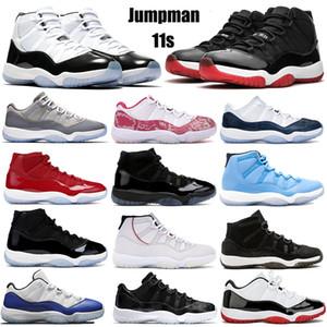 ولدت 11S Jumpman كرة السلة أحذية رجالية المرأة المدربين رياضي كونكورد 45 الفضاء المربى جاما الغطاء الأزرق والرياضة ثوب حذاء 36-47