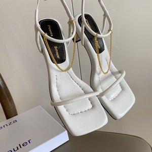 Нового летнего высокого качества оптовой чашки пятка сандалии женщин сандалия моды дезинфицировать обувь середины пятки открытого shoesElegant Середина пятки тапочек