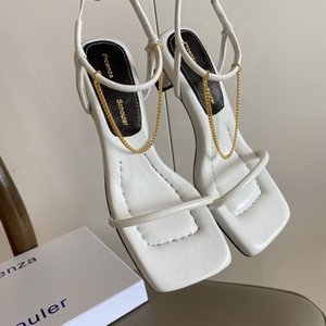 New hohe Qualität Sommer Großhandel Schale Ferse Sandale Damenmode Sandalen desinfizierte Schuhe Mitte Ferse im Freien shoesElegant Mid Heel Hausschuhe