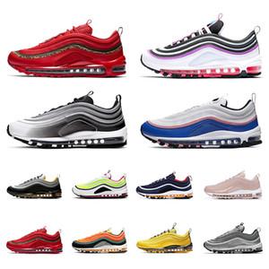 Nike air max 97 Gráficas tema corrente sapatos 2020 PRM Branco Triplo homens negros mulheres esportes das sapatilhas mais colorway Red Leopard Corduroy pacote