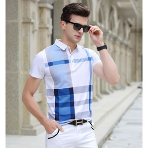Men Polo Shirt Slim Fit Short Sleeve Men Clothing Brand Business & Casual Summer Mens Polo Shirts XZ-039 P8LC ABD9