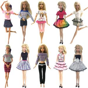 Nk 10 Set 2019 Lo nuevo Princesa Doll Outfit Hermosa ropa de fiesta Vestido de moda superior para Barbie Doll Mejor regalo de las niñas juguetes para bebés Q190521
