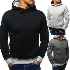 Basic Style Long Sleeve Hooded Sweatshirts Hoodies Mens Spring Tops Color Patchwork Mens Designer Hoodies Casual