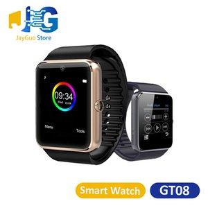 GT08 Смарт часы Bluetooth Smartwatches наручные Wear для TF карт Android IOS Поддержка SIM / DZ09 V8 с розничной коробкой