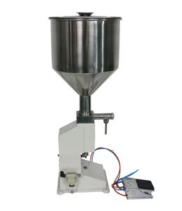 Máquina de enchimento Pneumática Vertical 5-50 ml creme pasta de alimentos shampoo dispensador de equipamentos de embalagem de líquidos de aço Inoxidável A02