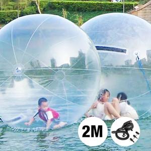 Ücretsiz Kargo 2M Dia Şişme Su Zorb Topu Satışa PVC / TPU Malzeme Su Yürüyüş Topu Dev Hamster Topu İçin İnsan